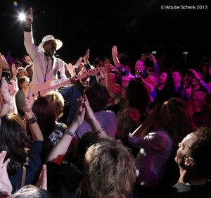 Larry Graham down stage