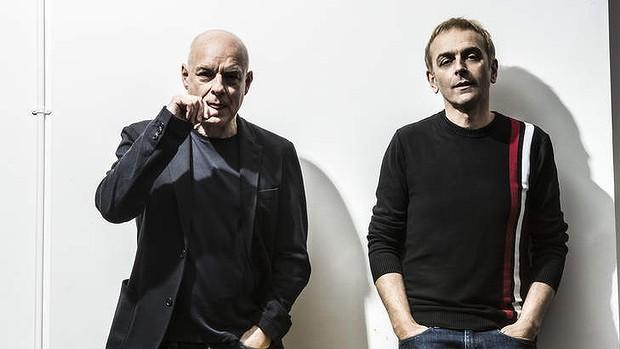 Brian Eno en Karl Hyde