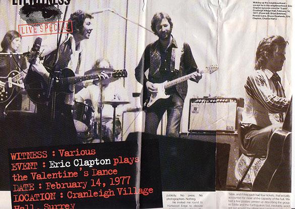 Charlie met Ronnie Lane en Eric Clapton. Fotograaf: onbekend (destijds gepubliceerd in Melody Maker)