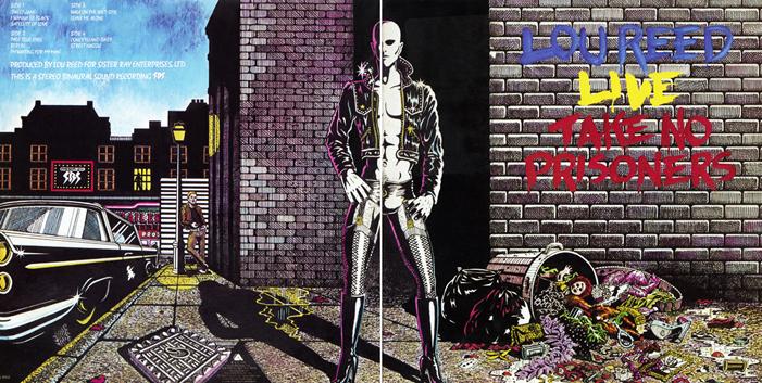 De klaphoes van Take No Prisoners, met geinige knipoog naar David Bowies Ziggy Stardust op de achterflap.